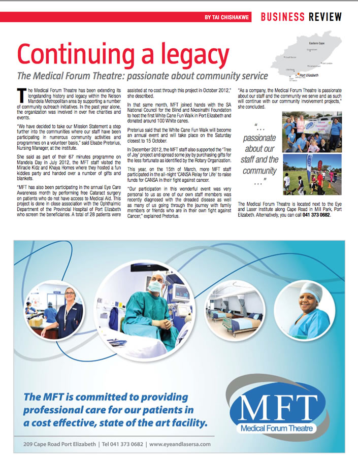Continuing a legacy - June 2013